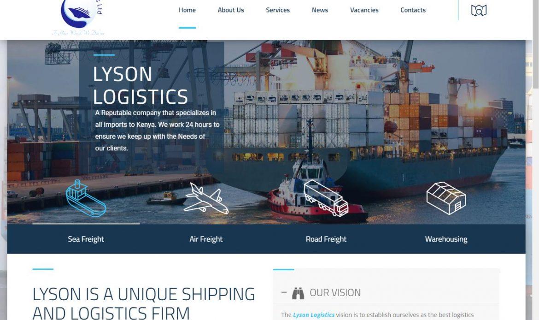Lyson Logistics website design, Social Media Marketing by Inspimate Enterprises