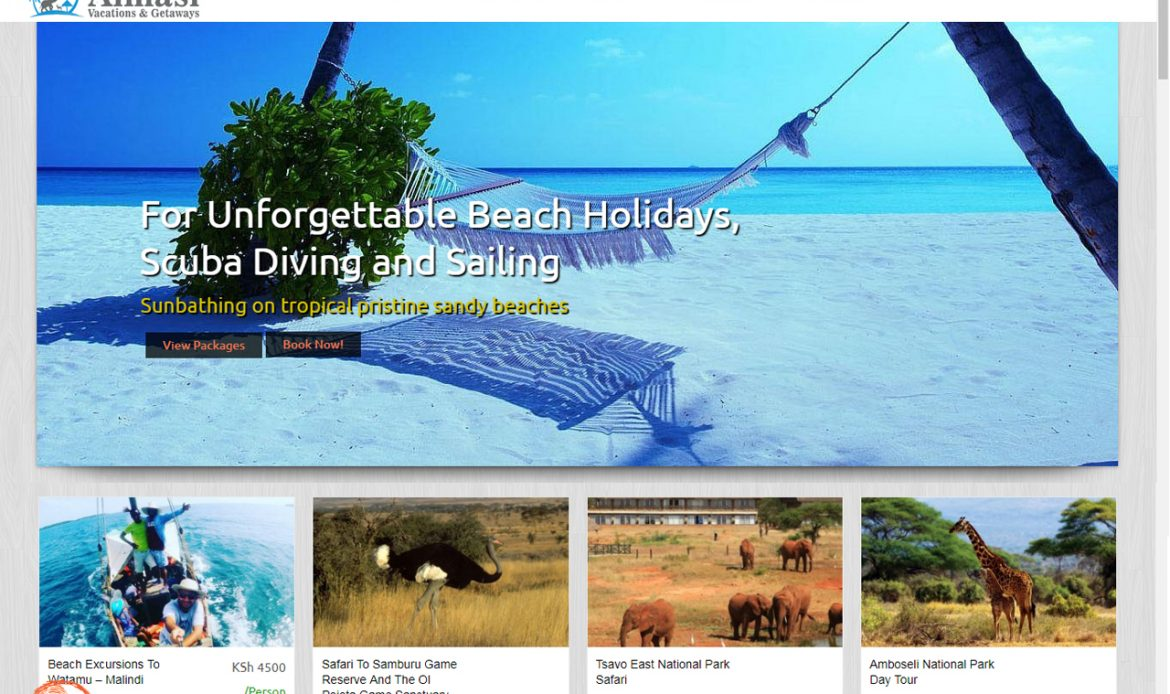 Website Design for Almasi Tours and Safaris for Best Safari, Holidays by Inspimate