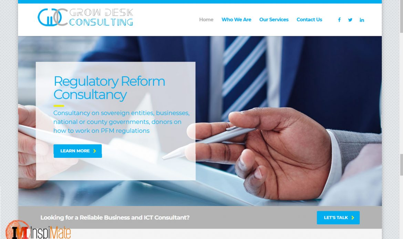 Grow Desk Consulting website design by Inspimate Enterprises