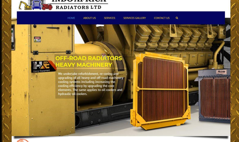 Indo Africa Radiators website design by Inspimate Enterprises