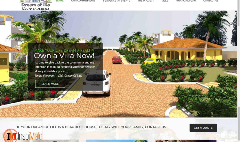 Dream Of Life, Villa Real Estate Website Design by Inspimate