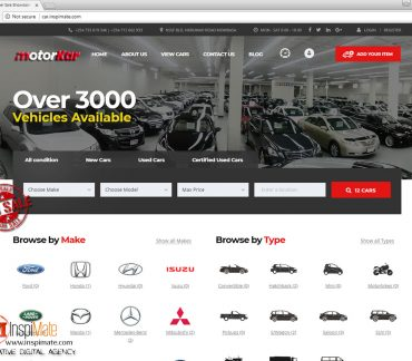 MotorKar, E-Motor Shop, Car Dealer website for sale by Inspimate Enterprises