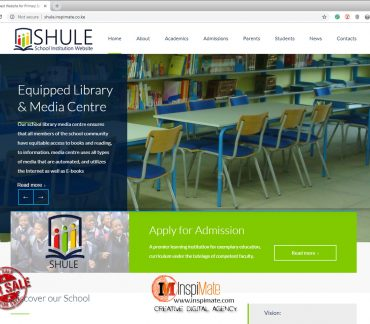 Shule - Primary School Best Website for Sale, webdesign by Inspimate