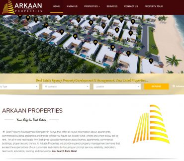 Arkaan Properties Web Design, Website by Inspimate Enterprises