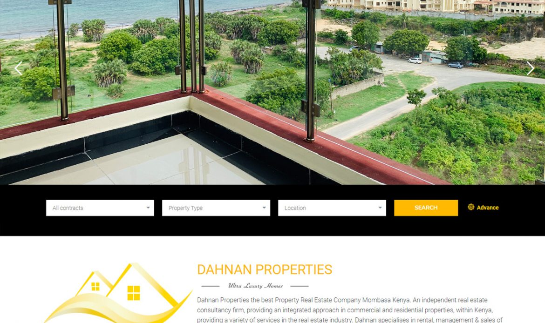 Dahnan Properties a Real Estate Website Design by Inspimate