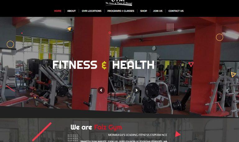 Faiz Gym Fitness Centers website design by Inspimate