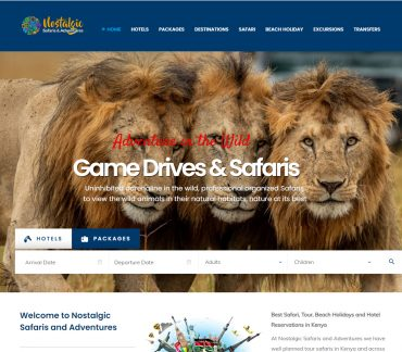 Nostalgic Safaris and Adventures Website Design by Inspimate Enterprises