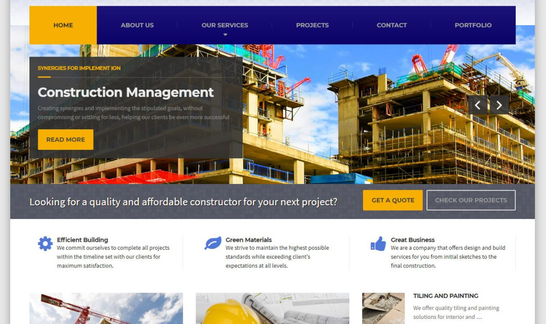 Ujenzi - Civil & Construction Company Website for sale by Inspimate